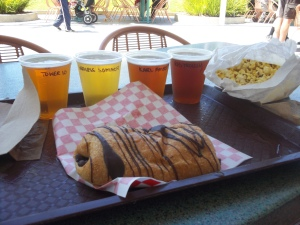 beer sampler for lunch